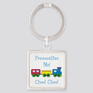Choo Choo Train Square Keychain