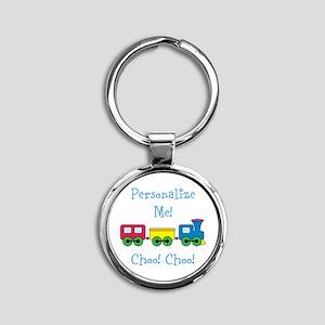 Choo Choo Train Round Keychain