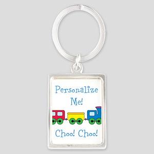 Choo Choo Train Portrait Keychain