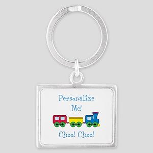 Choo Choo Train Landscape Keychain