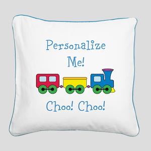 Choo Choo Train Square Canvas Pillow