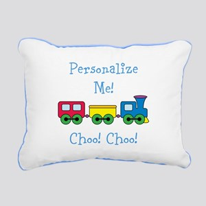 Choo Choo Train Rectangular Canvas Pillow