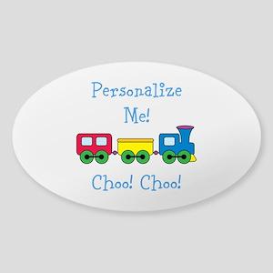 Choo Choo Train Sticker (Oval)