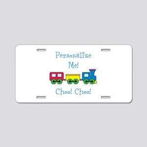 Choo Choo Train Aluminum License Plate