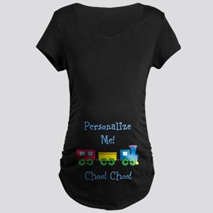 Choo Choo Train Maternity Dark T-Shirt