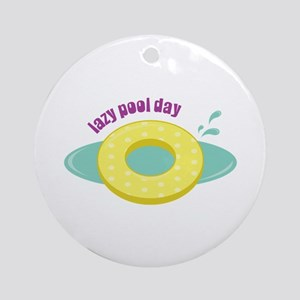 Lazy Pool Day Ornament (Round)