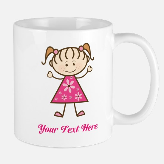 Pink Stick Figure Girl Mug