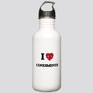 I love Condiments Stainless Water Bottle 1.0L