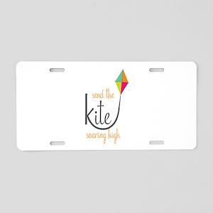Send The Kite Aluminum License Plate