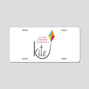 Imagination Fly High Aluminum License Plate