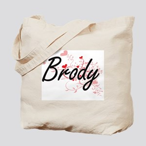 Brody Artistic Design with Hearts Tote Bag