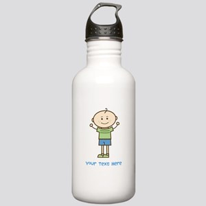 Stick Figure Boy Stainless Water Bottle 1.0L