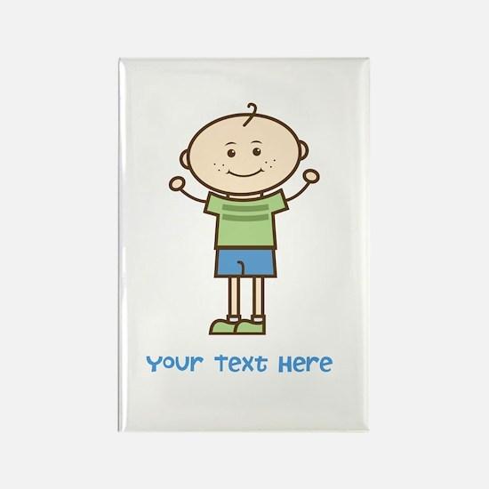 Stick Figure Boy Rectangle Magnet (100 pack)