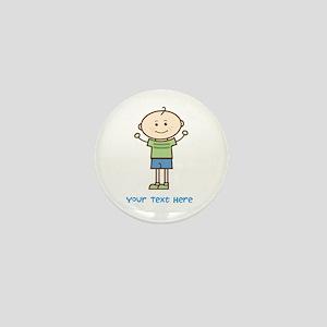 Stick Figure Boy Mini Button