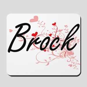 Brock Artistic Design with Hearts Mousepad