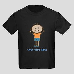 Stick Figure Boy Kids Dark T-Shirt