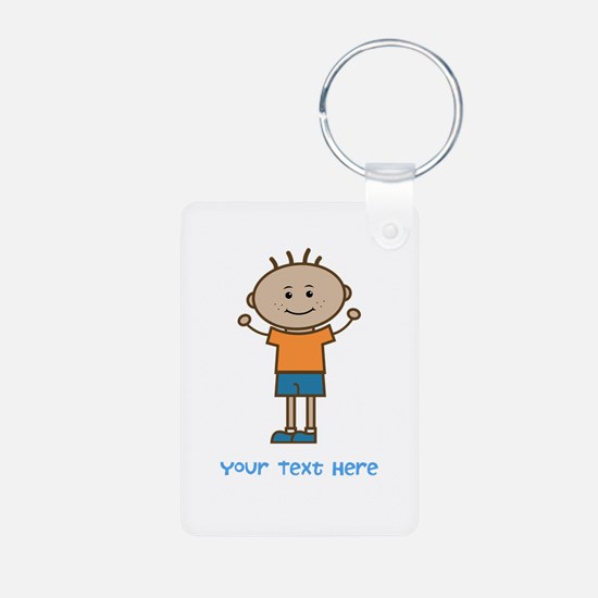 Stick Figure Boy Keychains