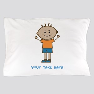 Stick Figure Boy Pillow Case