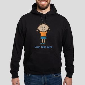 Stick Figure Boy Hoodie (dark)