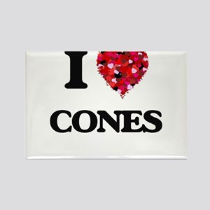 I love Cones Magnets