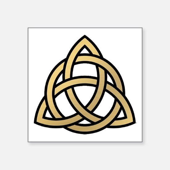 """Triquetra, Charmed, Book of Square Sticker 3"""" x 3"""""""