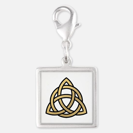 Triquetra, Charmed, Book of S Silver Square Charm