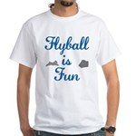 Flyball is Fun JAMD White T-Shirt