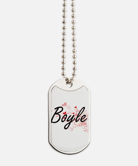 Boyle Artistic Design with Hearts Dog Tags