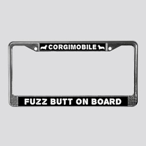 Corgimobile Fuzz Butt On Board License Plate Frame