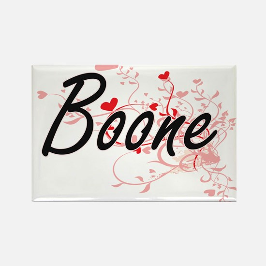 Boone Artistic Design with Hearts Magnets