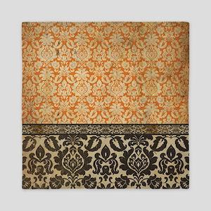 Antique Gothic Damask Tapestry Queen Duvet