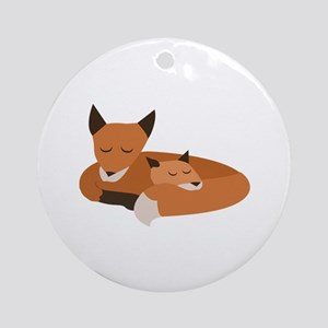 Fox Family Ornament (Round)