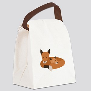 Fox Family Canvas Lunch Bag