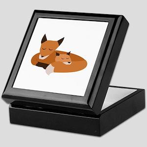 Fox Family Keepsake Box