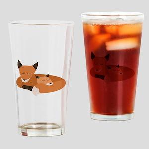 Fox Family Drinking Glass
