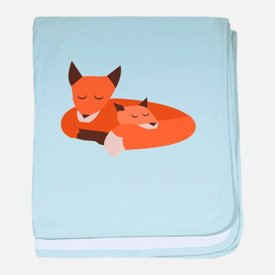 Fox Family baby blanket