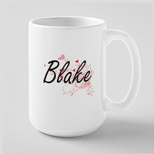 Blake Artistic Design with Hearts Mugs