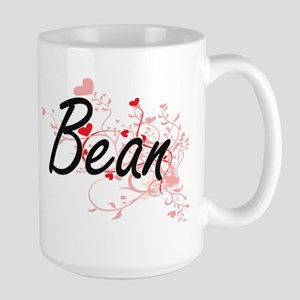 Bean Artistic Design with Hearts Mugs