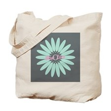 Cute Mint Floral Tote Bag
