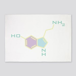 Serotonin Chemical Structure 5'x7'Area Rug