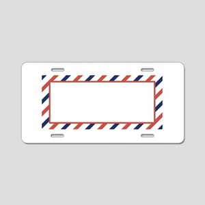 Air Mail Sticker Aluminum License Plate
