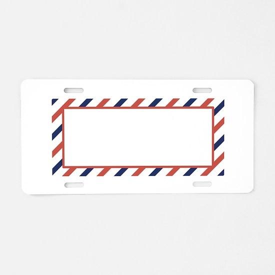 Air Mail Sticker Aluminum License Plate