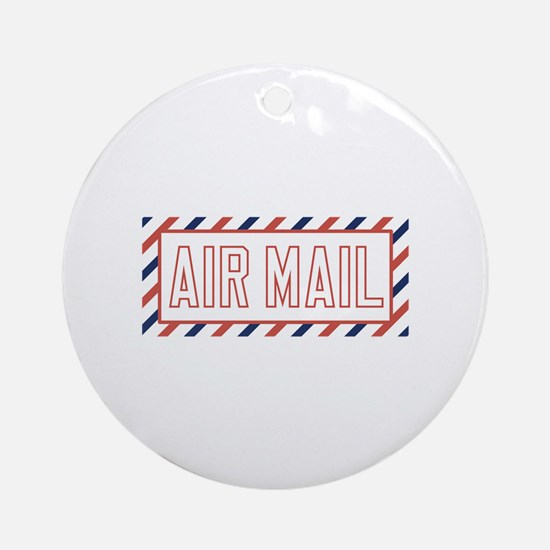 Air Mail Ornament (Round)
