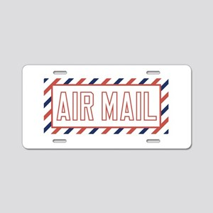 Air Mail Aluminum License Plate
