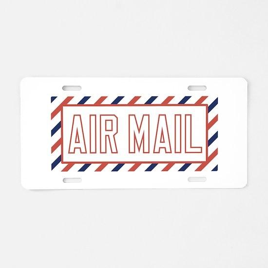 Air Mail Aluminum License Plate