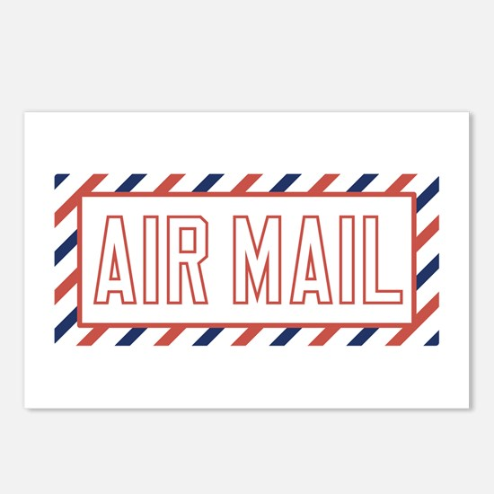 Air Mail Postcards (Package of 8)