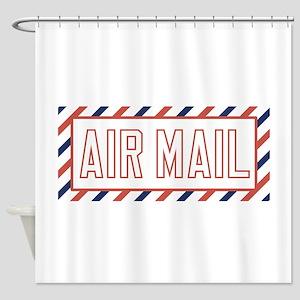 Air Mail Shower Curtain