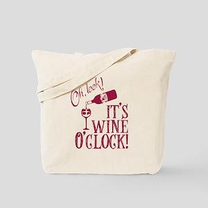 Wine OClock Tote Bag