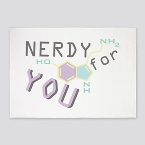 Nerdy For You 5'x7'Area Rug