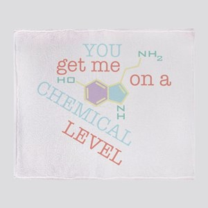 Chemical Level Throw Blanket
